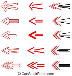 Arrows set.