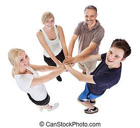 familia, compromiso, Apoyo