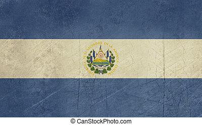 Grunge El Salvador flag - Grunge sovereign state flag of...