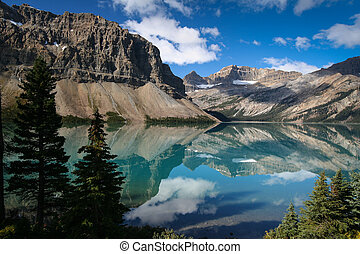 Bow lake at the Banff National Park