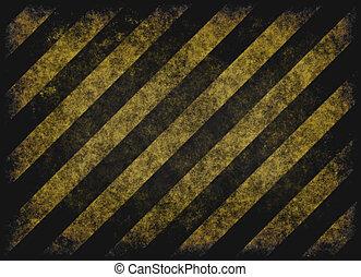 grunge hazard stripes - old grungy yellow hazard stripes on...