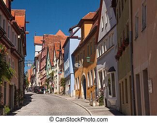 Schmiedgasse in Rothenburg ob der Tauber - Street...