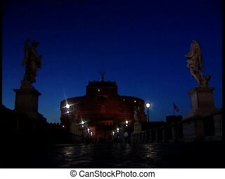 ROME CASTELSANTANGELO at evening