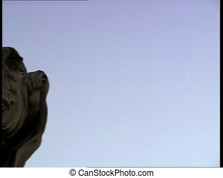 ROME CASTELSANTANGELO angel appear - A blue sky, the camera...