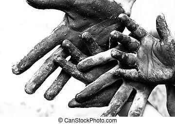 Dirty hands of poornes
