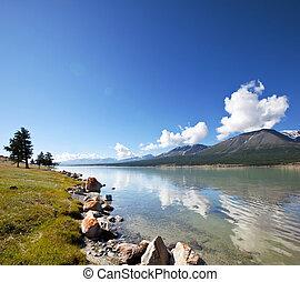 Lake in Mongolia - Khotton Lake in Mongolia