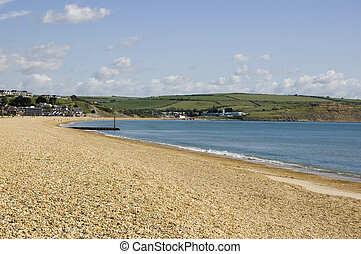 Preston Beach, Weymouth, Dorset - View looking north along...