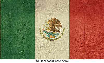 Grunge Mexico Flag - Grunge sovereign state flag of country...
