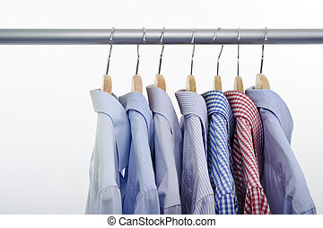 shirts isolated on white background and hanger