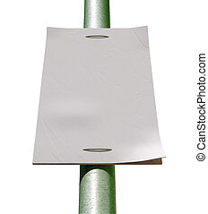 Street Pole Blank Newspaper Headline Page - A front view of...