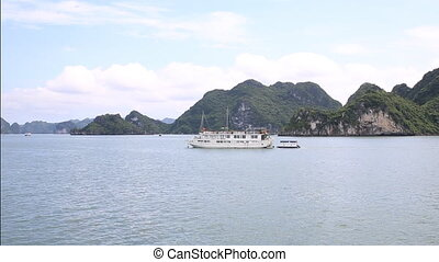 Halong bay - Sailing over ha long bay, Vietnam, Asia