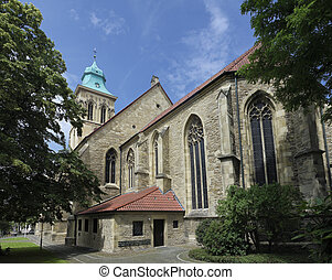 church in Munster, Germany - catholic church in Munster,...