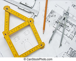 home planning - architecture project and home dream plan