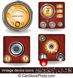 vintage device icons