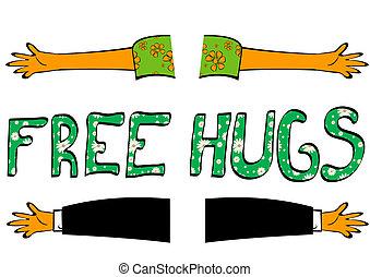 libre, abrazos