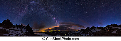 360 Milky way - Extraordinary 360 degree panorama of the...