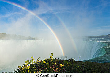 Niagara Falls - spectacular rainbow in the mist of Niagara...