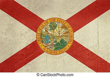 Grunge Florida state flag