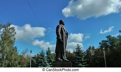 Profile of Lenin monument in Moscow, Russia, East Europa