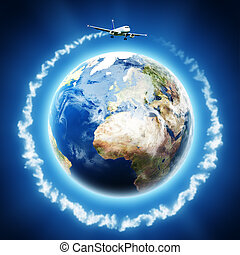 Transport and Travelling backgrounds for your design. EARTH...