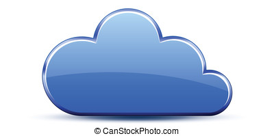 Glossy cloud icon