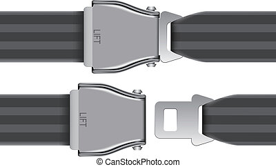 seat belt - Layered vector illustration of seat belt which...