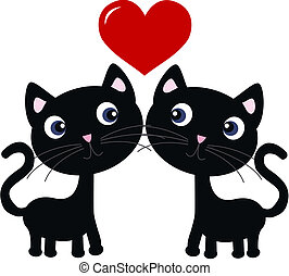 two cats in love - two sweet cats in love