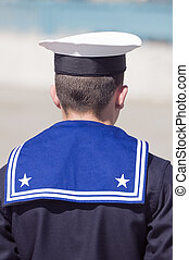 Sailor - Rear view of sailor during the guard