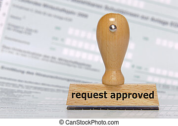 request approved - rubber stamp marked with request approved