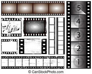35mm film - 35mm and 135 still camera and cinema film strips