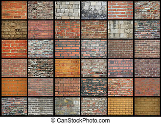 Brick Walls - Collection of brick wall backgrounds and...