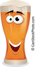 Cartoon Lager Beer Character - Illustration of a funny happy...