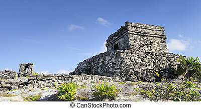 Famous archaeological ruins of Tulum, Mexico