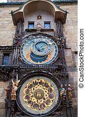Astronomical Clock In Prague - famous astronomical clock in...