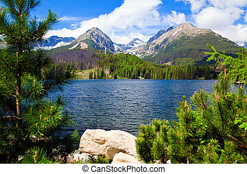 Lake in Slovakia - lake in Slovakia in High Tatras named...