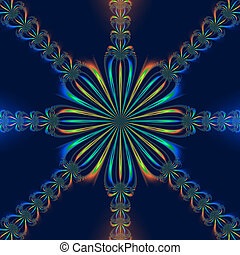 Octagonal Bow - Digital abstract image with a geometric...