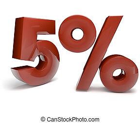 five percent - 3d render of five percent