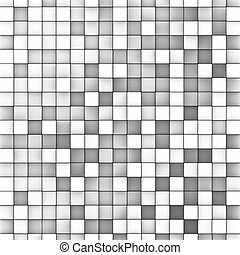 3d mosaic backdrop in shade of gray white
