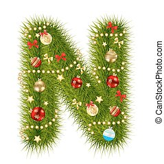 Abstract beauty Christmas and New Year abc. vector...