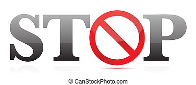 stop sign illustration text