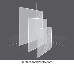 Background with transparent frames - Gray background with...