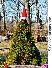 Gravesite Christmas Tree