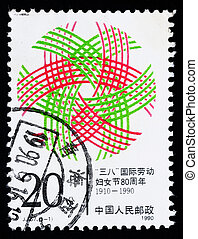 Stamp printed in China shows the Womens Day - A Stamp...