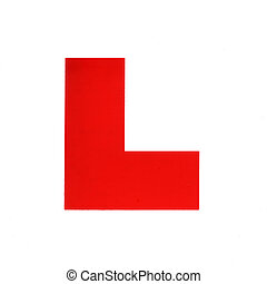 L Plate - 'L' Plate for a Learner Driver.