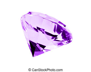 Isolated Amethyst Jewel - A close up on a isolated Amethyst...