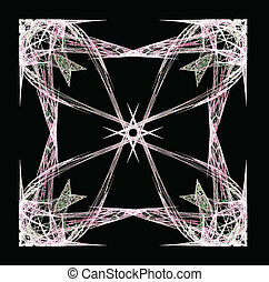 Abstract Fractal Arrows Vector - Abstract Fractal Art Square...