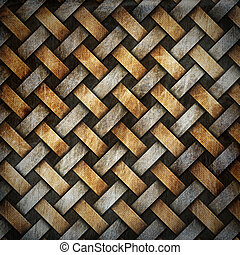 Grunge Braided Canvas Background - Canvas crisscross...