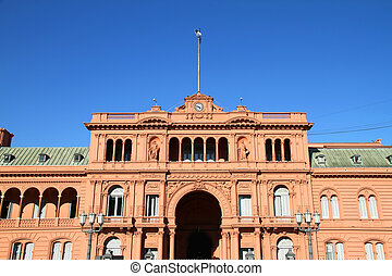 Casa Rosada - The Casa Rosada, the governmental building in...