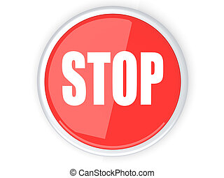 Stop Button - Stop button 3D rendered illustration Isolated...