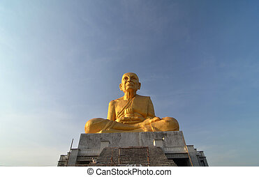 Big Golden Buddha with sky, thailand